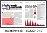 graphic design of a newspaper ... | Shutterstock .eps vector #562324072