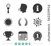 first place award cup icons.... | Shutterstock .eps vector #562329916