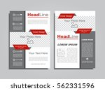 brochure design layout with... | Shutterstock .eps vector #562331596