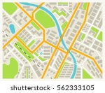 city map colored illustration... | Shutterstock .eps vector #562333105