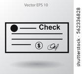dollar check vector illustration | Shutterstock .eps vector #562336828