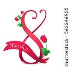 vector illustration of 8 march...   Shutterstock .eps vector #562346905
