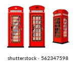 red phone box in london over... | Shutterstock .eps vector #562347598