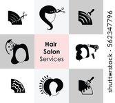 vector illustration of hair... | Shutterstock .eps vector #562347796