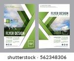 greenery brochure layout design ... | Shutterstock .eps vector #562348306