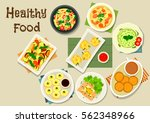 italian and chinese cuisine... | Shutterstock .eps vector #562348966