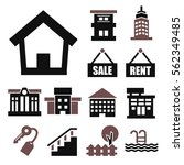 buying home icon set | Shutterstock .eps vector #562349485
