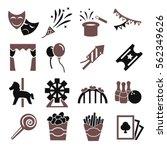 carnival icon set | Shutterstock .eps vector #562349626