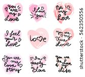 hand written phrase. vector... | Shutterstock .eps vector #562350556
