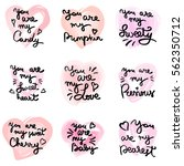 hand written phrase. vector... | Shutterstock .eps vector #562350712