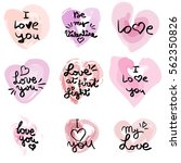 hand written phrase. vector... | Shutterstock .eps vector #562350826