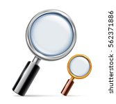 silver and golden magnifying... | Shutterstock .eps vector #562371886