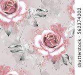seamless pattern with pink... | Shutterstock . vector #562374202