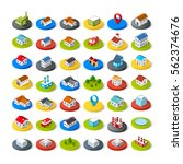 isometric vector 3d icon city... | Shutterstock .eps vector #562374676