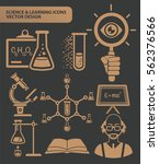 science and learning icon set... | Shutterstock .eps vector #562376566