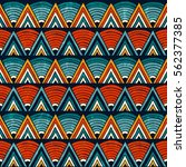 Tribal Seamless Ornament In...