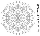 flower mandala with hearts....