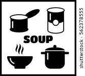 soup dish isolated icon. soup... | Shutterstock .eps vector #562378555