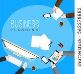 illustration of businessman... | Shutterstock .eps vector #562378882