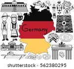 travel to germany doodle... | Shutterstock .eps vector #562380295