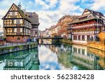 traditional half timbered... | Shutterstock . vector #562382428
