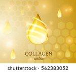 oil drop vector background.... | Shutterstock .eps vector #562383052