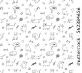 Seamless Pattern With Cute And...