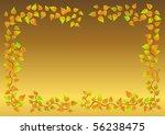 excellent autumn leaf frame....   Shutterstock .eps vector #56238475