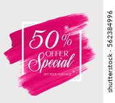 sale special offer 50  off sign ... | Shutterstock .eps vector #562384996