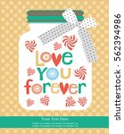 love card design. vector... | Shutterstock .eps vector #562394986