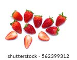 strawberry isolated on white... | Shutterstock . vector #562399312