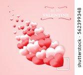 love valentine's day red... | Shutterstock .eps vector #562399348