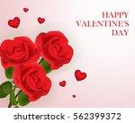 love valentine's day red...   Shutterstock .eps vector #562399372