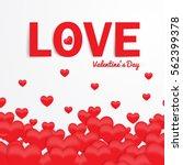 love valentine's day red...   Shutterstock .eps vector #562399378