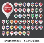 set the pointer to the map with ... | Shutterstock .eps vector #562401586
