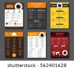 set a4 menu for cafes and... | Shutterstock .eps vector #562401628