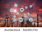 industry 4.0 concept image.oil... | Shutterstock . vector #562401742