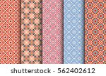 seamless patterns with... | Shutterstock .eps vector #562402612