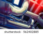 system of ventilating pipes     ... | Shutterstock . vector #562402885