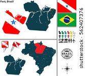 vector map of region of para...