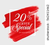 sale special offer 20  off sign ... | Shutterstock .eps vector #562411462