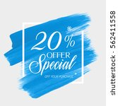 sale special offer 20  off sign ... | Shutterstock .eps vector #562411558