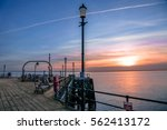 the pier from southend on sea... | Shutterstock . vector #562413172