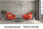 interior with chair. 3d... | Shutterstock . vector #562413436
