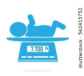 weight scale for infant icon ... | Shutterstock .eps vector #562415752