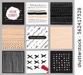 template  banners. vector brush ... | Shutterstock .eps vector #562417528