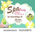 spa party invitation card | Shutterstock .eps vector #562420876