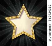 Gold Star On A Dark Background...