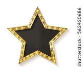 vector golden star on white... | Shutterstock .eps vector #562430686