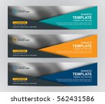 abstract web banner design... | Shutterstock .eps vector #562431586